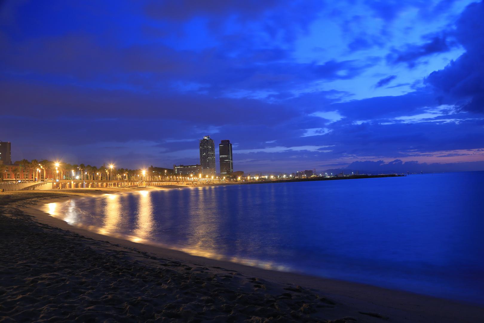 Barcelona Strand Morgendämmerung 3
