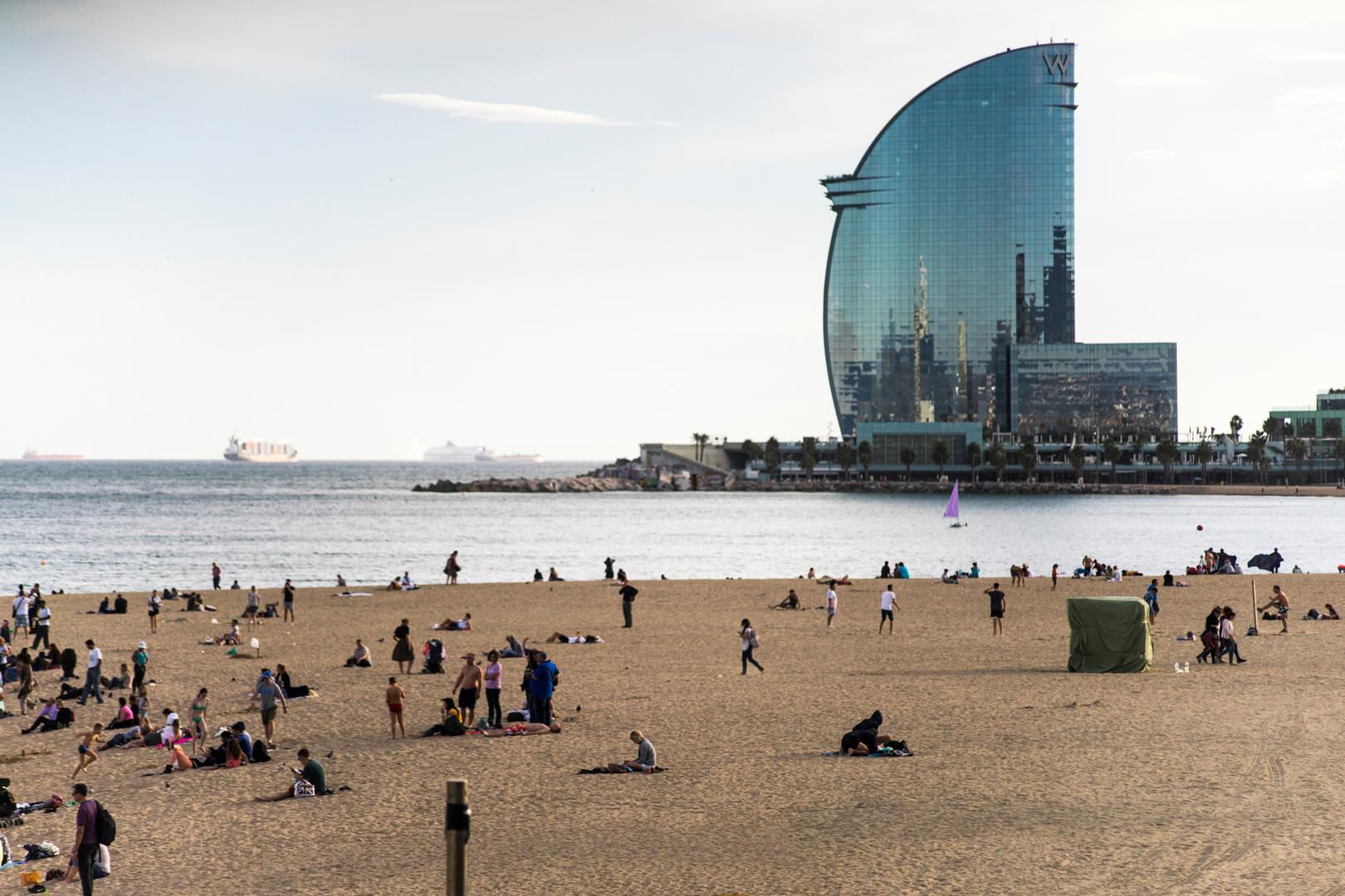 Barcelona - Strandleben Ende Oktober
