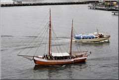 Barche al porto di Oslo.