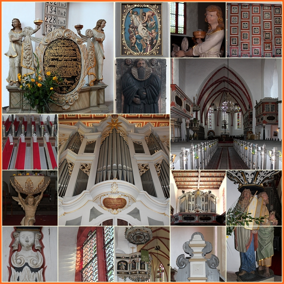 Barocke Innenausstattung der Stadtkirche St. Marien in Weida