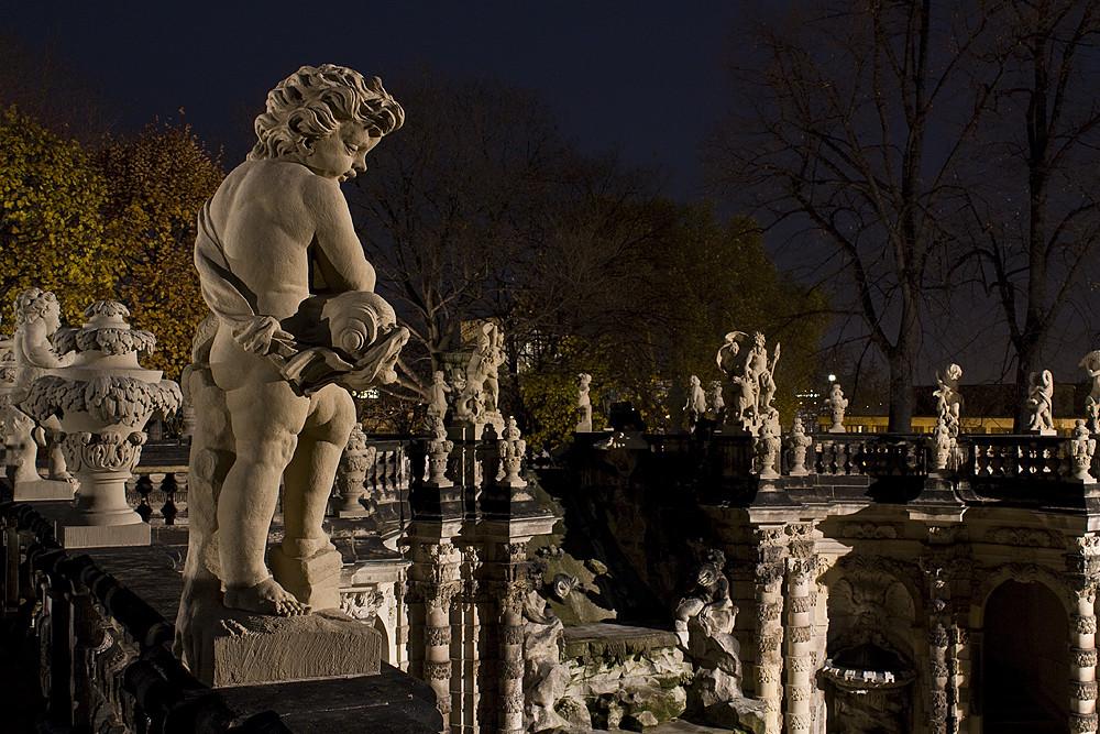 barockes Dresden bei Nacht
