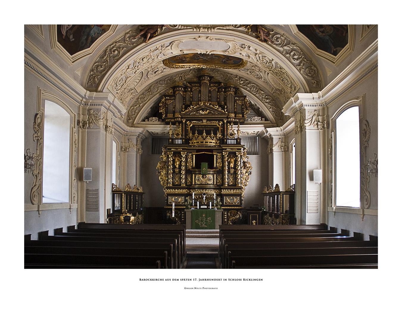 Barockkirche aus dem späten 17. Jahrhundert in Schloß Ricklingen