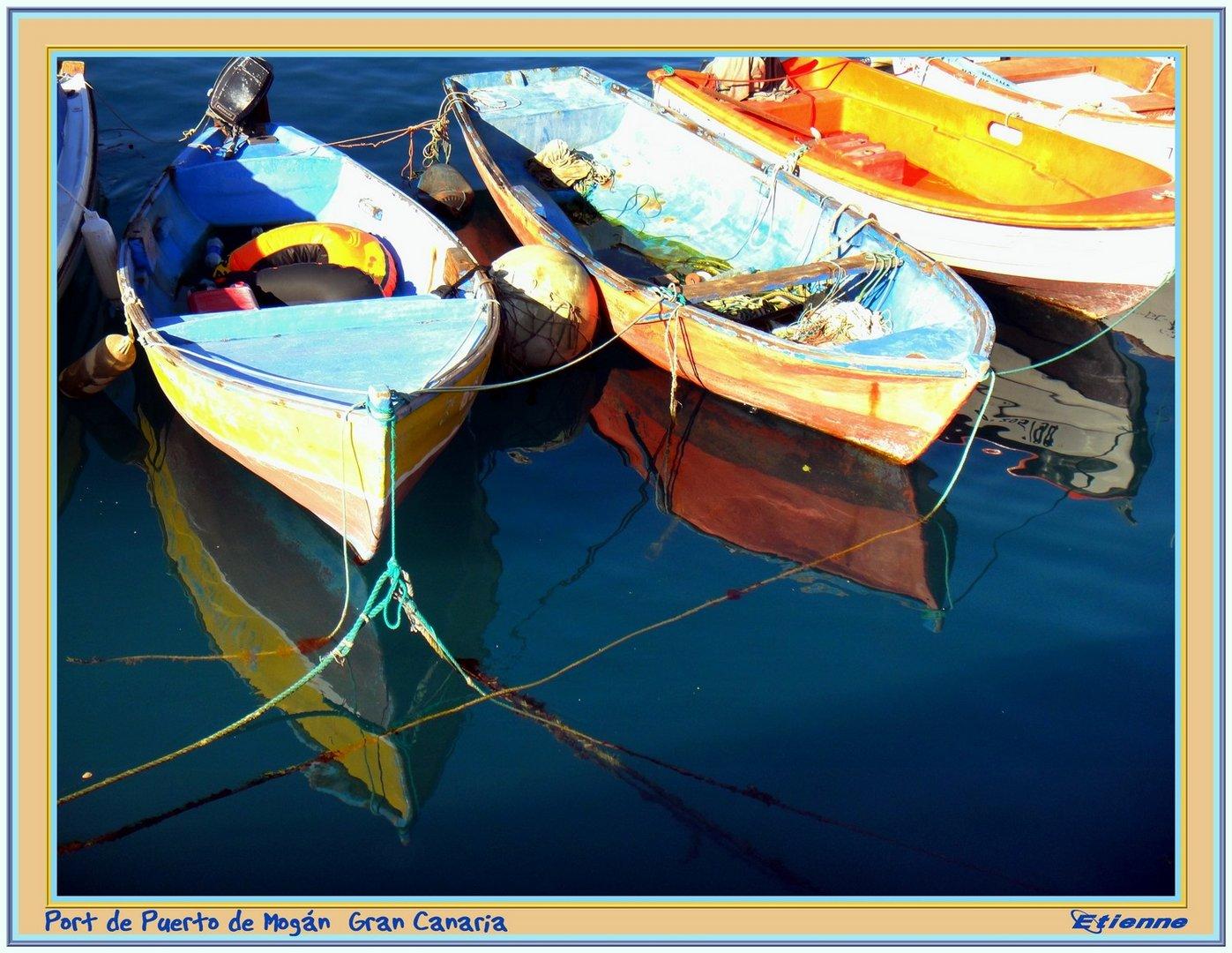 Barques à Puerto Mogán
