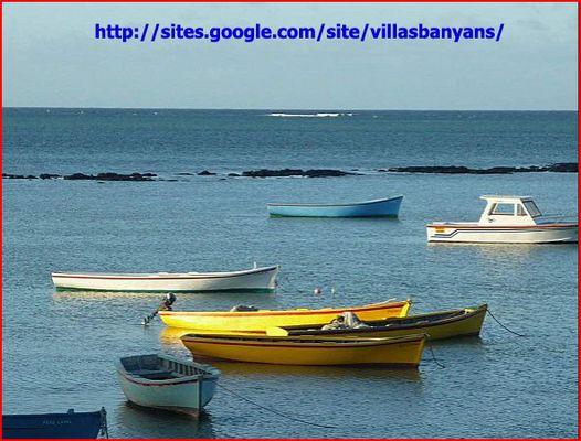 Barques de pêcheurs à Grand Gaube/Ile Maurice