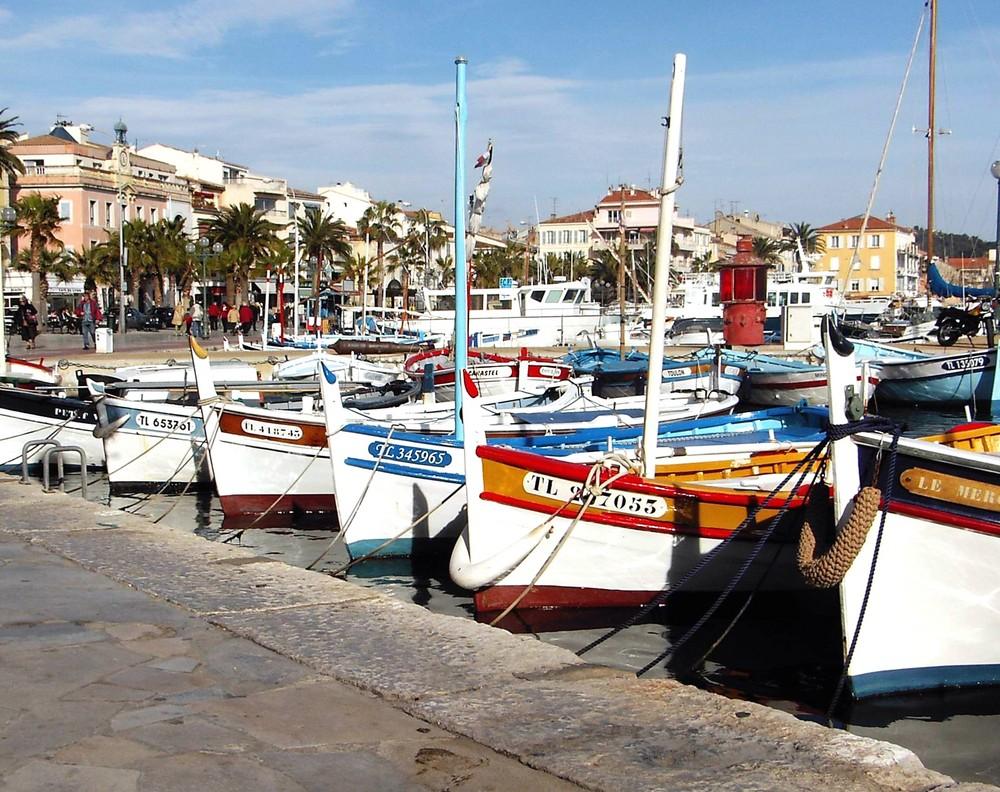Barques de pecheurs a Sanary