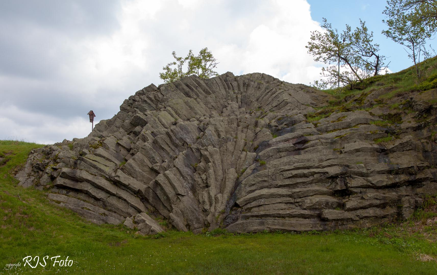 Basaltfächer auf dem Hirtstein