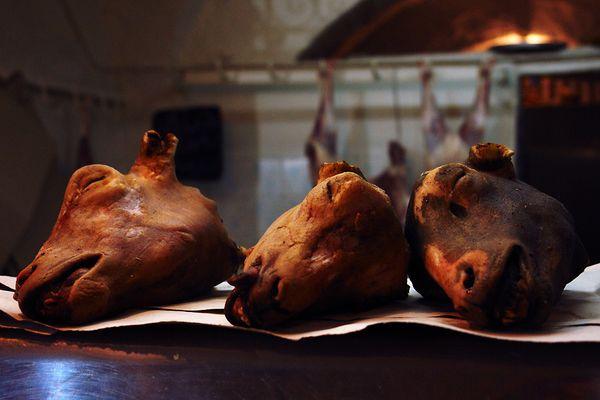 Basar in Sousse-Tunesien 3 - Die Ziegenmetzgerei