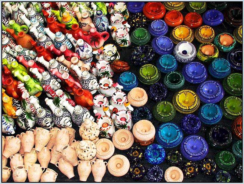 Basar Zarzis: Heute Keramik im Angebot (Tunesien4)