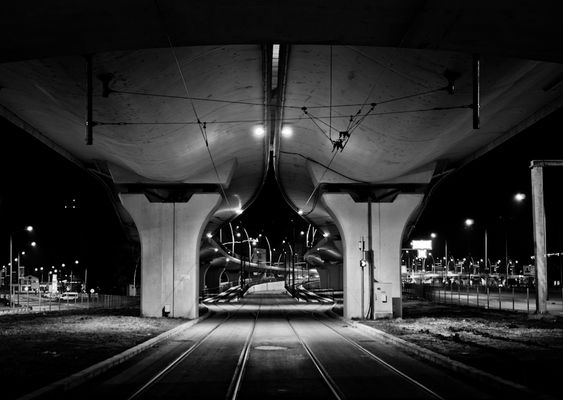 Basarab Bridge at night-Bucharest