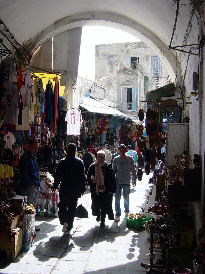 Basarstraße in Ibn Bou Said