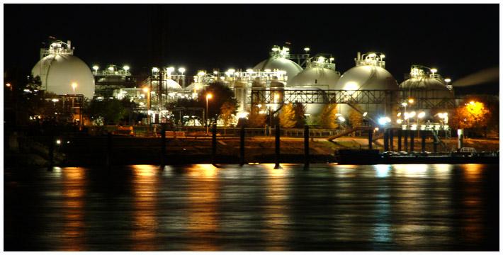 BASF bei Nacht III