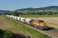 BASF Kalkzug auf Main Neckar Bahn