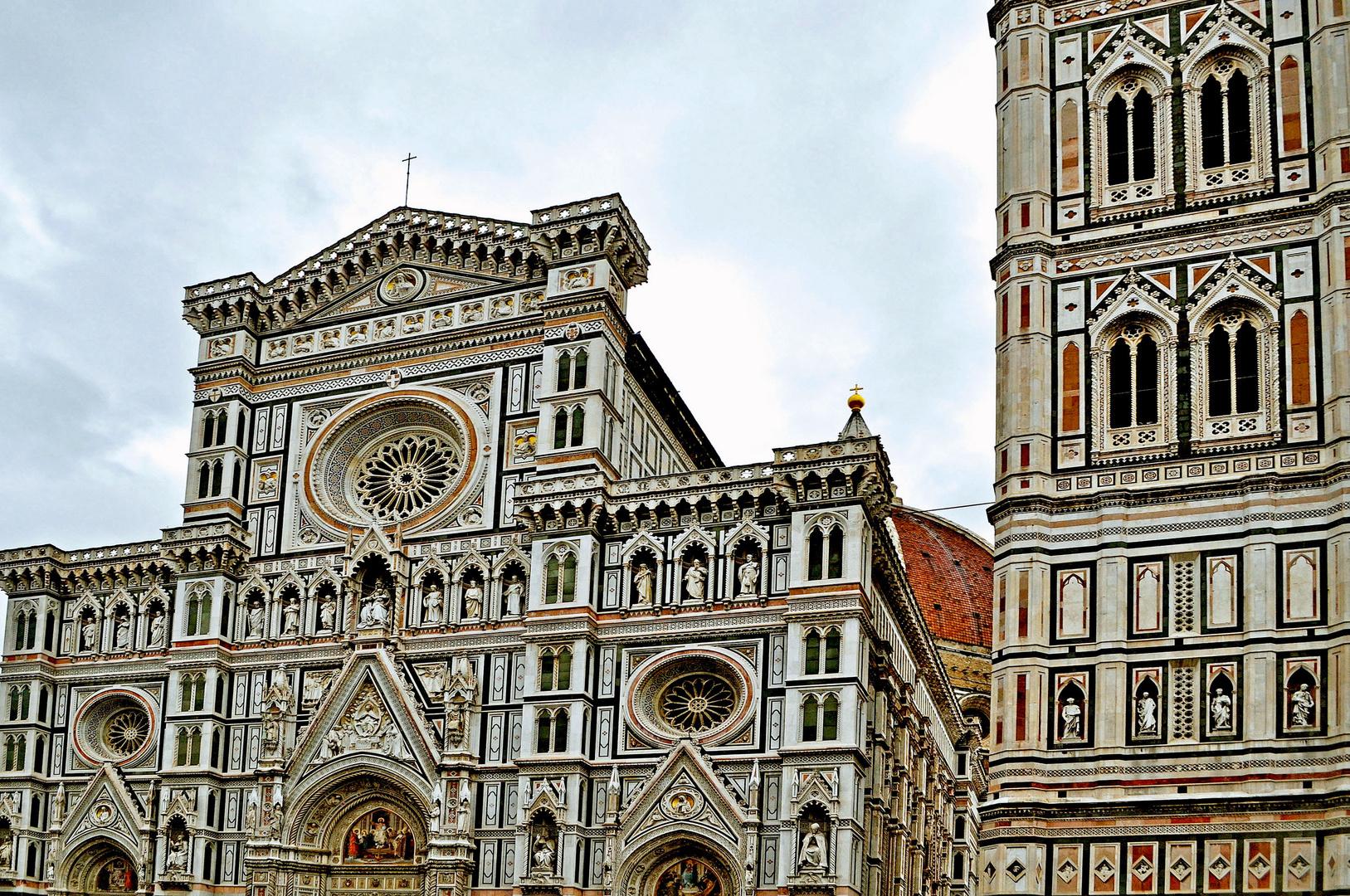 Basilica di Santa Maria del Fiore Façade and Giotto's Campanile, Florence