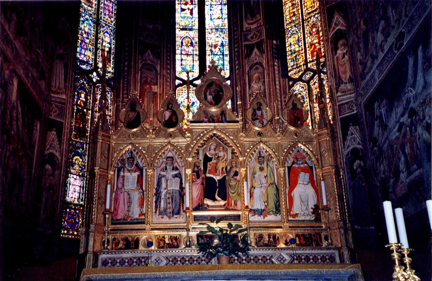 Basilica of Santa Croce Altar, Giovanni del Biondo's Virgin and Saints