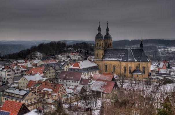 Basilika Gößweinstein Winterimpressionen 2012 (2) HDR