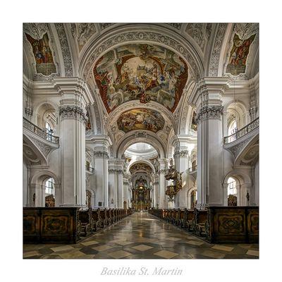 "Basilika St. Martin (Weingarten) ( "" Blick zum Chor..."" )"