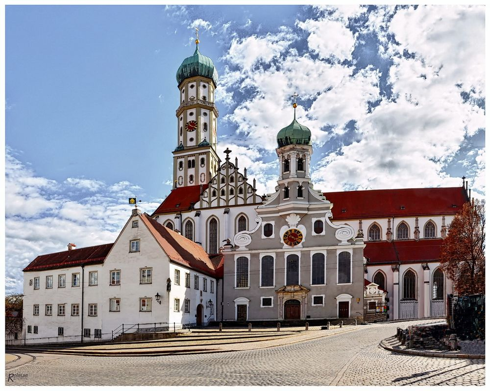Basilika st ulrich in augsburg foto bild architektur sakralbauten au enansichten von - Mobel um augsburg ...