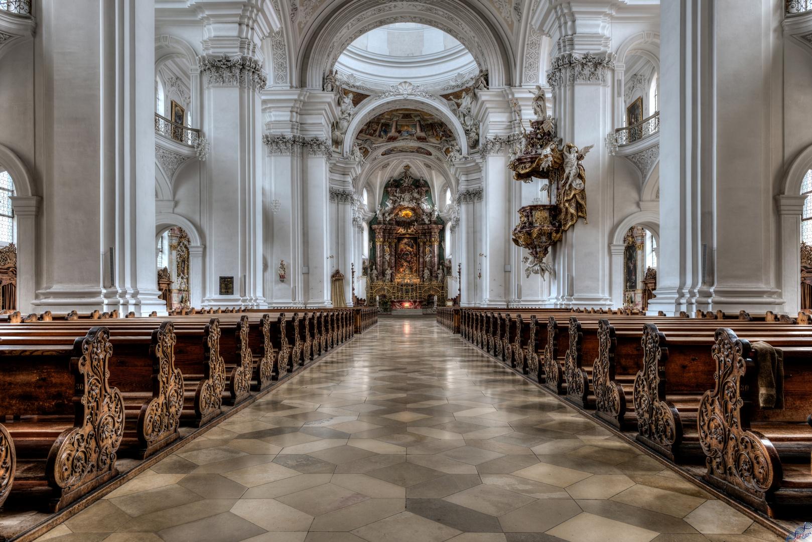 Basilika Weingarten Mittelschiff