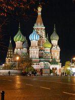 Basilius Kathedrale bei Nacht