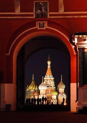 Basilius Kathedrale - Moskau - Nachtaufnahme