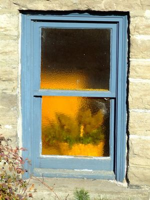 Basket in Church window