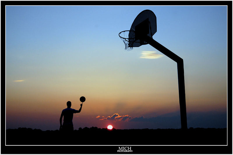 Basketball under the sun