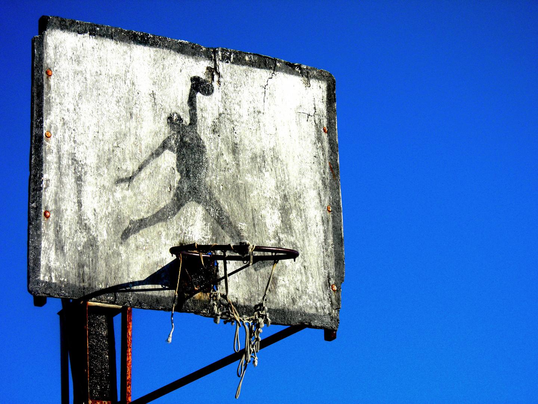 Basketballkorb auf Kroatien