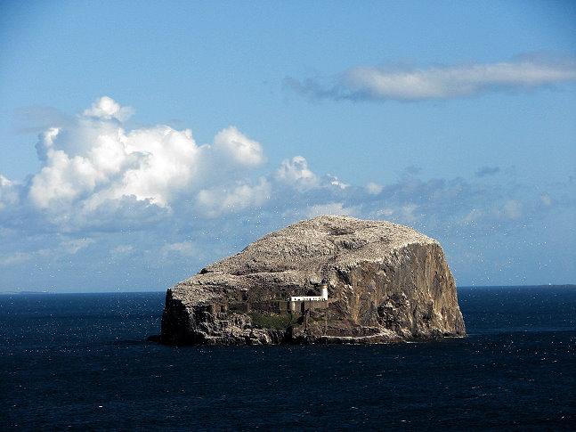 Bass Rock from Tantallon Castle, Scotland