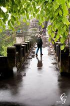 Bastei Brücke im Regen 1