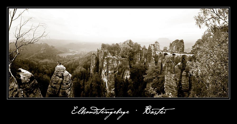 Bastei im Elbsandsteingebirge bei Dresden