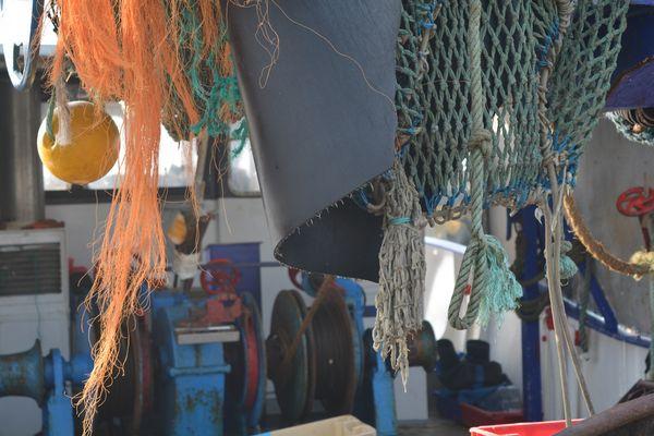 bateau de pêche aux Bas Sablons
