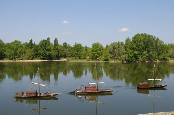 bateau traditionnel sur la Loire