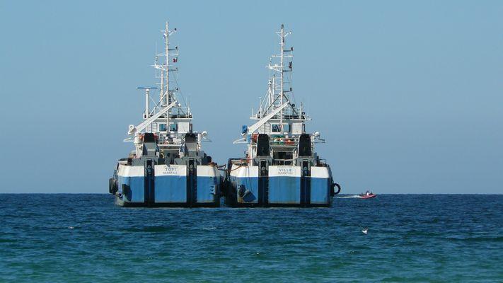 Bateaux plage d'Erquy