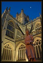 Bath Abbey <Bath bei Nacht>