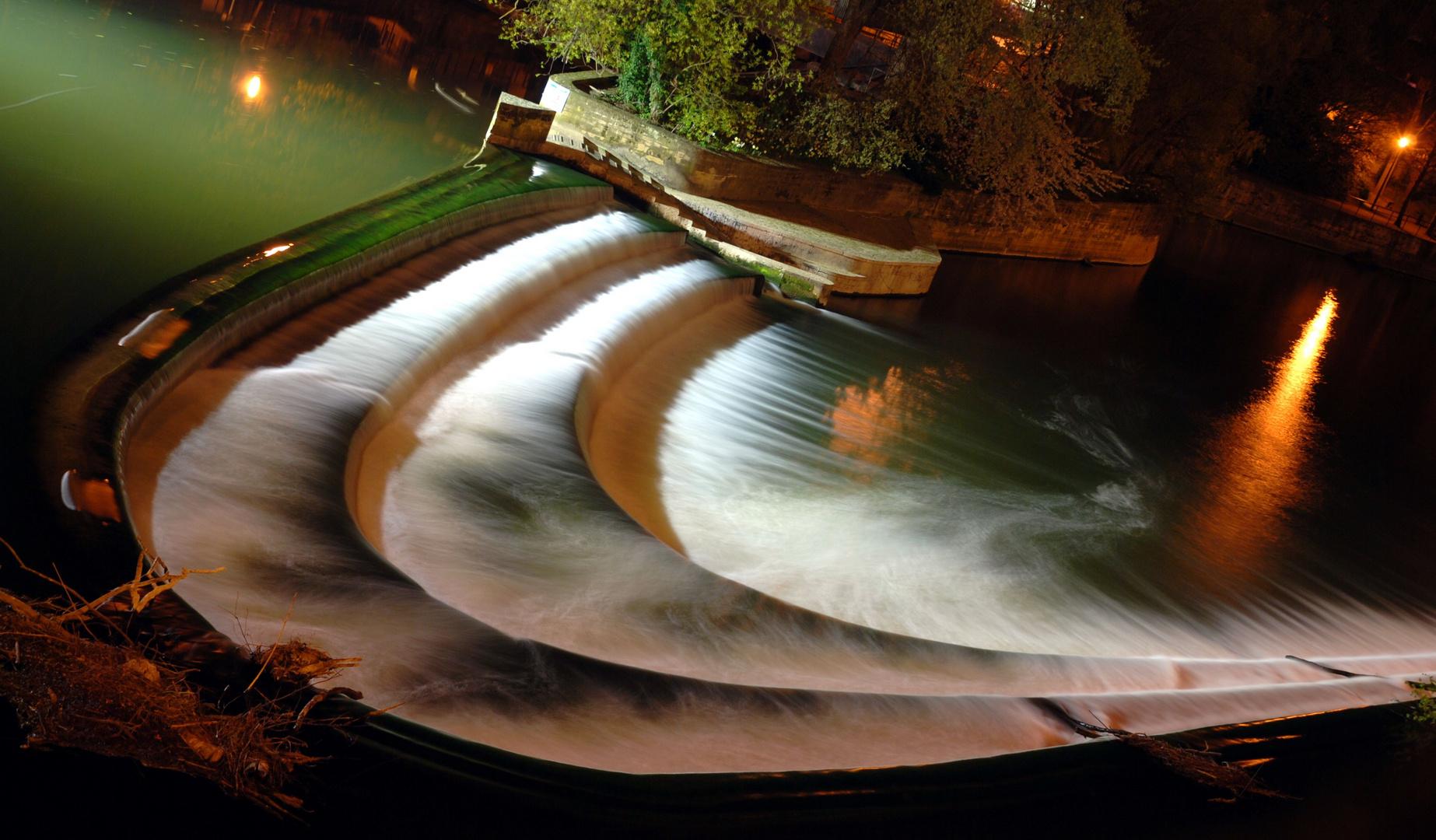 Bath - River Avon by night