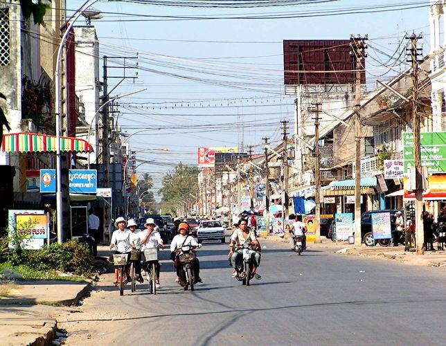 Battambang Hauptstrasse