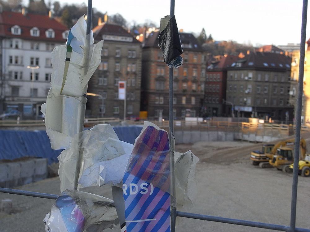 Bauarbeiten beim Marienplatz