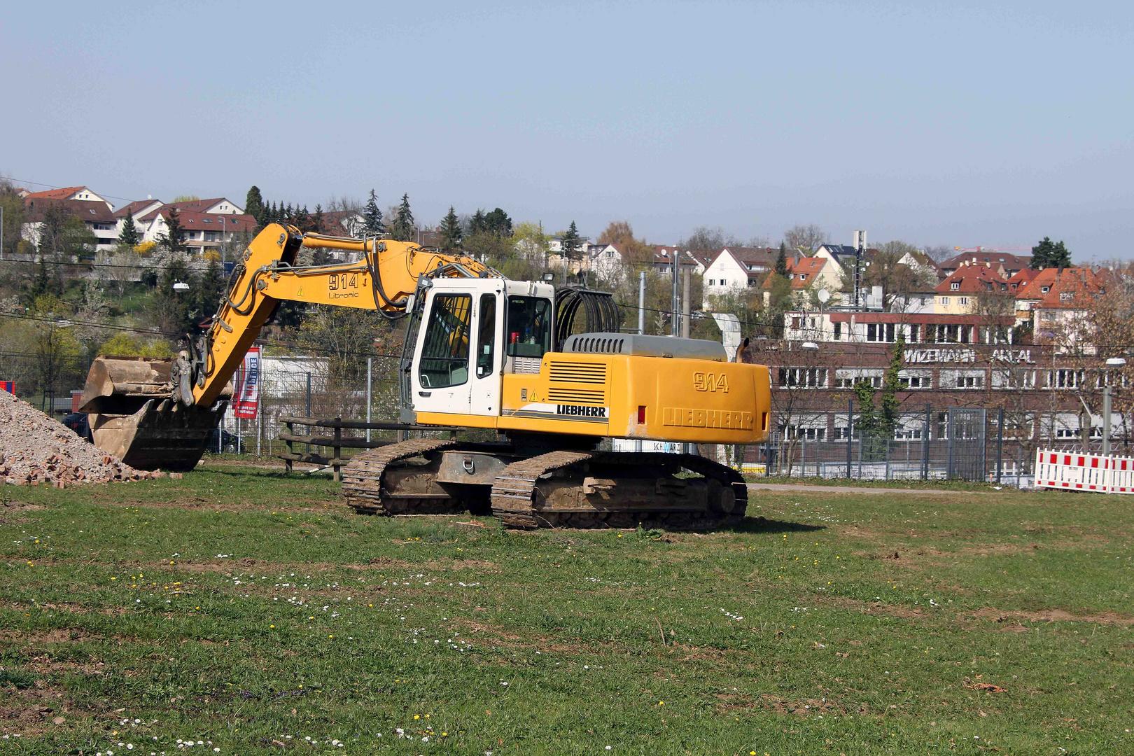 Bauarbeiten in der Wilhelma in Stuttgart