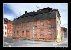 Baudenkmal - (abgebrannt) Vorderansicht