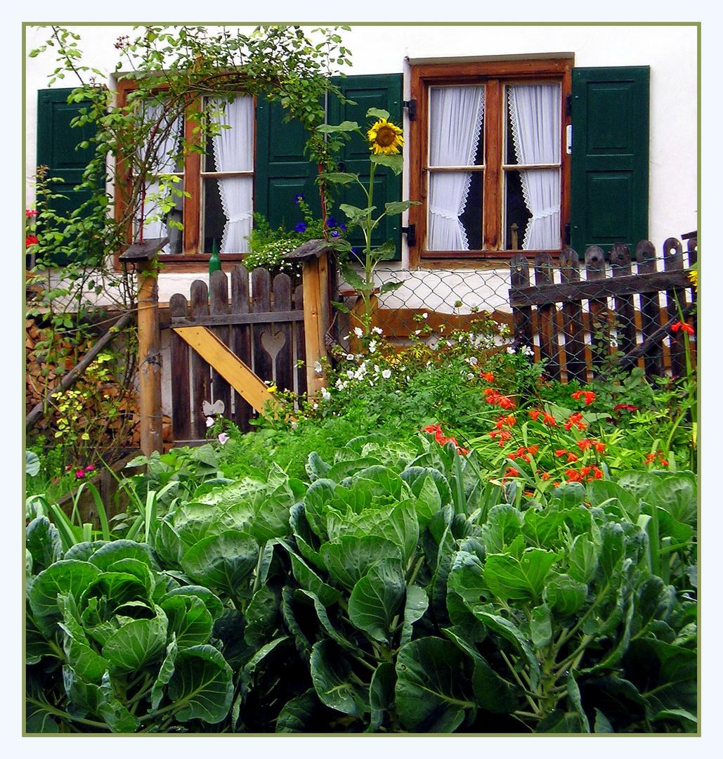 """Bauerngarten """" mit Herz """""""