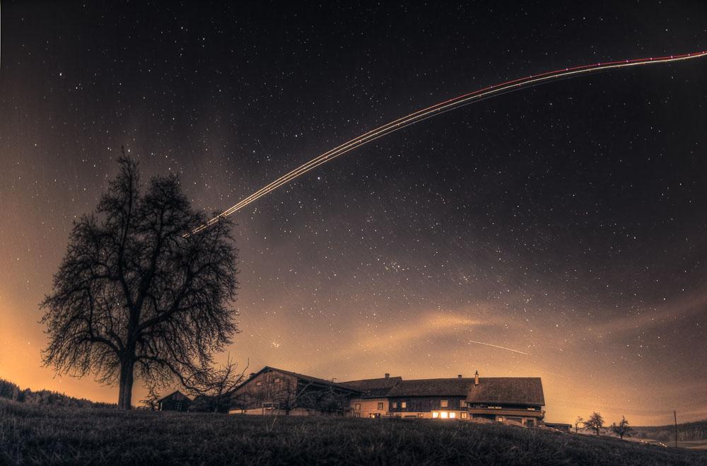 Bauernhaus unter den Sternen
