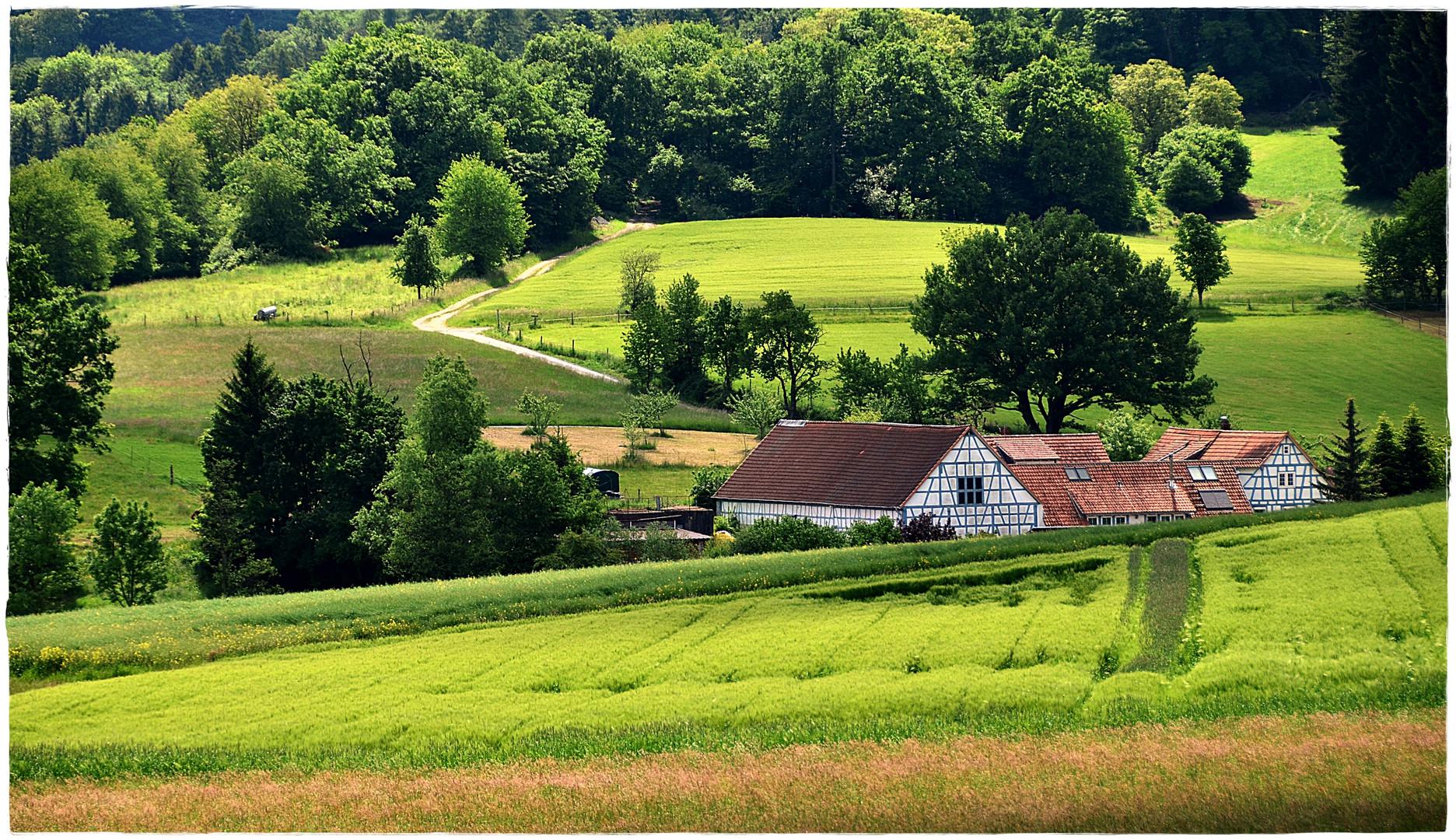 Bauernhof im vorderen Odenwald