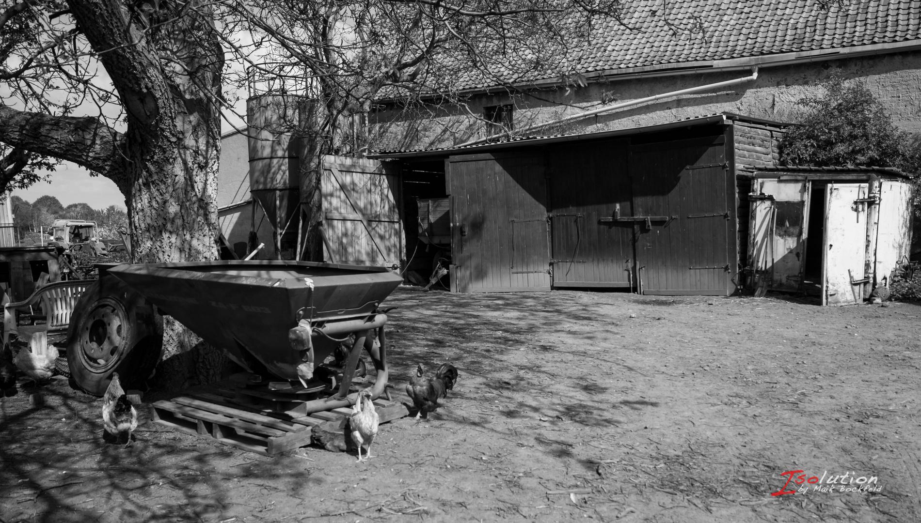 Bauernhof Schwarz Weiß