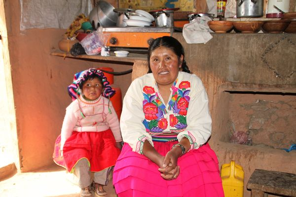 Bauersfrau mit Kind ... in Peru -TIPPS