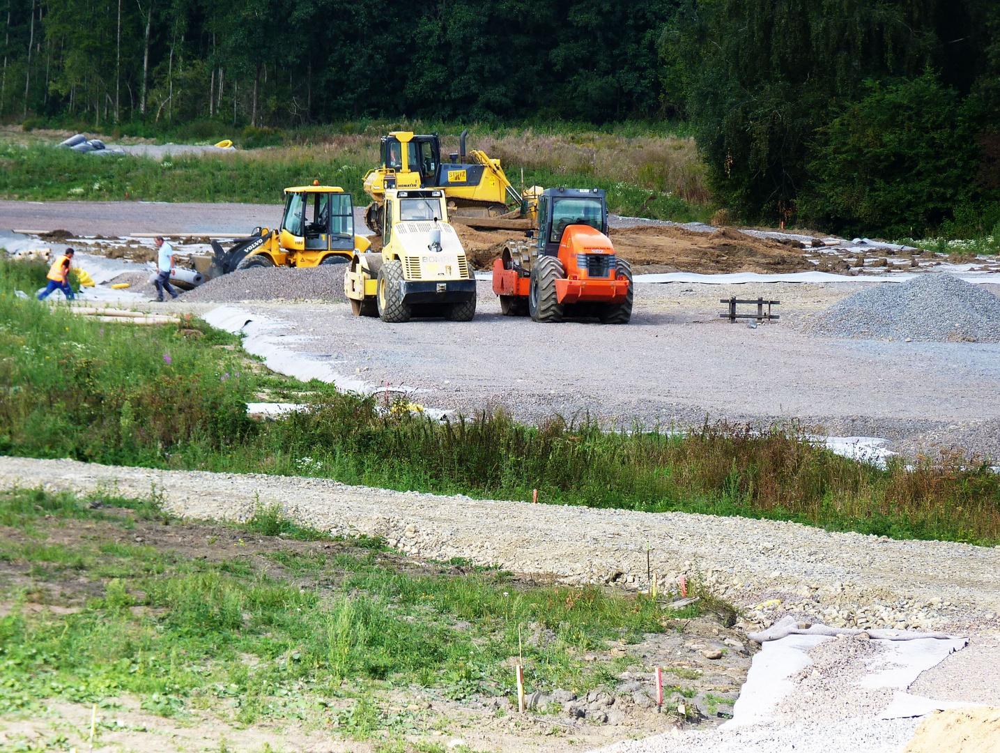 Baufeld der neuen A 30 Nordumgehung (Westteil)