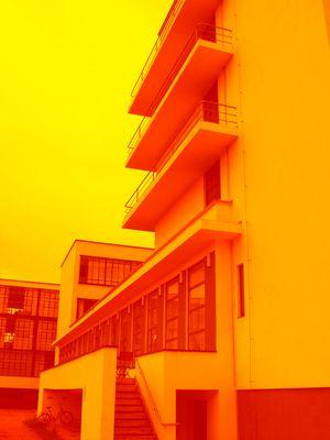 bauhaus kunst dessau architektur architecture art farbig kunstepoche