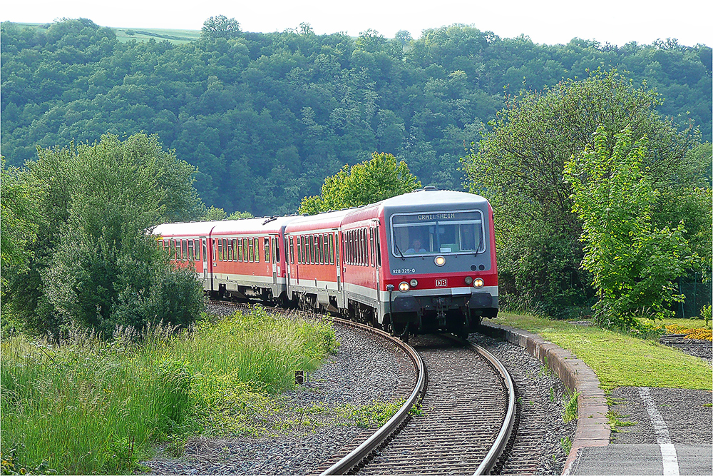 Baureihe 628 im Taubertal