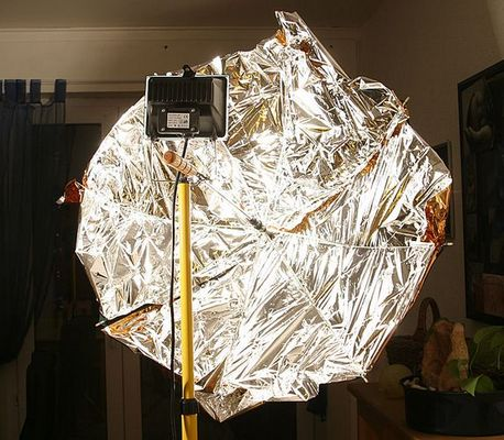 Baustrahler mit Reflektor