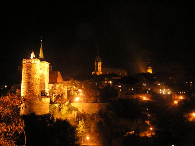 Bautzen - Stadt der Türme und Sorben bei Nacht