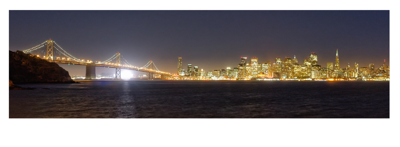 Bay-Bridge SF gesehen von Treasure-Island